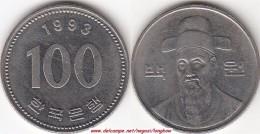 Corea Del Sud 100 Won 1993 (large Bust) KM#35.2 - Used - Corea Del Sud