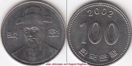 Corea Del Sud 100 Won 2002 (large Bust) KM#35.2 - Used - Corea Del Sud