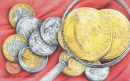 SAN MARINO PHONE CARD 2004 MONETA D´ORO  € 5,00NUOVA MAI USATA - San Marino