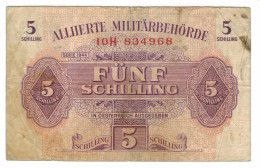 Austria 5 Shill. 1944 , WWII,  F+ . Free Ship. To USA. - Austria