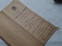 STUDIE Van Mter Albert VAN BELLINGHEN Notaris MECHELEN () : Akte - Anno 1919 ( Voir Photo Pour Détail ) ! - Non Classés