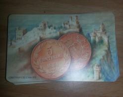 SAN MARINO PHONE CARD 2004 MONETA D´ORO  € 200 NUOVA MAI USATA - San Marino