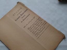 STUDIE Van Mter Louis ROEVENS Notaris BRASSCHAET (Brasschaat) : Akte - Anno 1924 ( Voir Photo Pour Détail ) ! - Non Classés