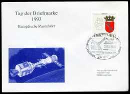 38790) BRD - Brief - SoST 26169 FRIESOYTHE 1 Vom 31.10.1993 - Tag Der Briefmarke, Raumfahrt - BRD
