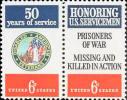 1970 USA American Veterans Stamps Sc#1421-22 1422a Disabled Martial - Handicaps
