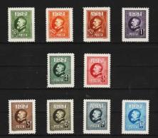 1926 -  60 Anniv. Du Roi Ferdinand Mi No 293/302 Et Yv No 309/318 MNH - Ungebraucht