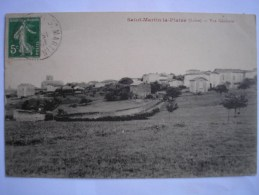 42 -  CPA - St-MARTIN-la-PLAINE - Vue Générale  - Belle Carte Peu Commune - Autres Communes