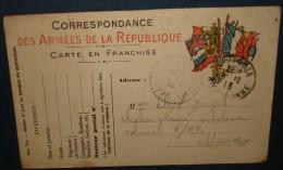 Petit Lot De 5 Differentes CORRESPONDANCE MILITAIRE.Etat Correct - Marcophilie (Lettres)