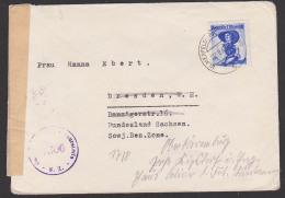 Österreich Zensurstelle 1306 Brief Aus Ulmerfeld-Hausmening Nach Der SBZ Sowjetische Besatzungszone - Hong Kong (1997-...)