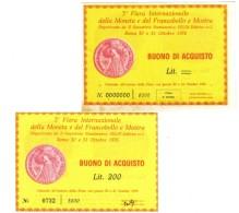 3à Fiera Internazionale Della Moneta Francobollo SELIN Roma 30-31 Ottobre 1976 Prova Di Stampa + 200 Lire  LOTTO 1148 - [ 2] 1946-… : Républic