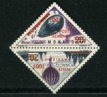 MONACO (  AERIEN ) : Y&T N°  61/62  TIMBRES  NEUFS  SANS  TRACE  DE  CHARNIERE , A  VOIR .