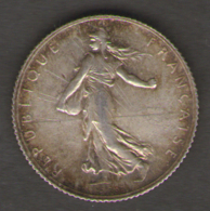 FRANCIA 1 FRANCS 1919 AG SILVER - Francia