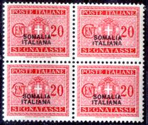 Italia-F01438 - Somalia 1934: Segnatasse, Sassone N. 54 (++) MNH - Privo Di Difetti Occulti. - Somalia