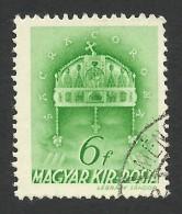 Hungary,  6 F. 1939, Sc # 541, Mi # 602, Used. - Hungary