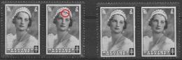 T 00550 - Belgique 1935, N° 415 Neufs, Variété 2 Paires Avec Mèches Sur Le Front (timbre De Droite)  Côte 12.90 €