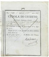 NAPOLI CEDOLE DI CREDITO 1806 50 DUCATI EMISSIONE 1807 GIUSEPPE NAPOLEONE RARA  Lotto.1201 - [ 4] Vorläufige Ausgaben