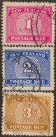 NZ 1939 1d-3d Postage Due SG D42-4 U #VY254 - Timbres-taxe