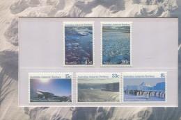 AUSTRALIAN ANTARCTIC TERRITORY 1985 POSTFRIS MINT YVERT 68 69 70 71 72 - Neufs