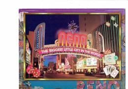 Nevada Reno - Street - Biggest Little City - Carte à Jouer Jeton Machine à Sous Monnaie Dé - Reno