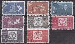 T 00448 - Roumanie 1958, Oblitérés N° 1607 à 1614, Côte 7.00
