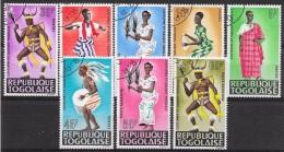 T 00450 - Togo 1966 N° 499 à 504 Et PA 59 Et 60 Oblitérés, Costumes Africains, Côte 3.50 €