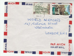 1963 Air Mail CAMBODIA Stamps COVER From BUREAU LIGHT AIRCRAFT & SPORTS AVIATION To WORLD AIRPORTS WESTMINSTER GB - Cambodia