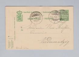 Heimat EU Luxemburg BETTBORN 1910-05-23 Ganzsache 5c Nach Niedermertzig - Entiers Postaux
