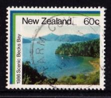 New Zealand 1986 Coastal Scenery 60c Becks Bay Used - - New Zealand