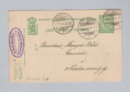 Heimat EU Luxemburg BETTBORN 1909-12-16 Ganzsache 5c Nach Niedermertzig - Entiers Postaux