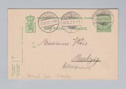 Heimat EU Luxemburg BETTBORN 1912-10-26 Ganzsache 5c Nach Mertzig - Entiers Postaux