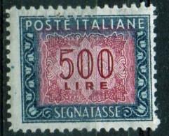 PIA - ITA - Specializzazione : 1974 :  Segnatasse  £ 500 - (SAS 120/II  - CAR 48 ) - Varietà E Curiosità