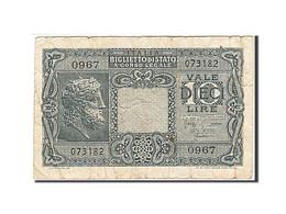 Italie, 10 Lire, 1944, KM:32b, 1944-11-23, B - [ 1] …-1946 : Koninkrijk