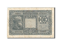 Italie, 10 Lire, 1944, KM:32b, 1944-11-23, B - [ 1] …-1946: Königreich