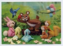 CHILDREN POSTCARD, Tridimensional, Double Image, 3D, Lenticulaire  ( 2 Scans ) - Kinderen