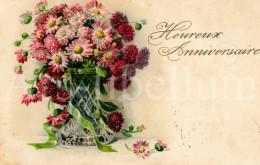 Postkaart / Postcard / CPA / Fleurs / Flowers / Heureux Anniversaire / Ed. EAS No 151 / 1921 - Birthday