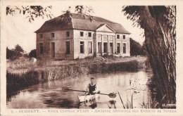 58 GUERIGNY  Barque  AVIRON Plan D' EAU  Devant Le Vieux CHATEAU D' URZY Tampon Postal  1955 - Guerigny