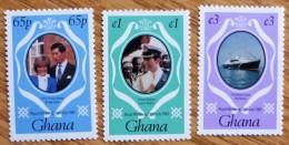 1981 Ghana MNH Stamp Royal Wedding Set No ROY3-035. - Ghana (1957-...)