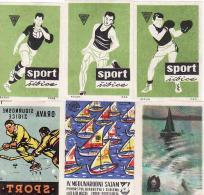 Croatia - Yugoslavia,Matchbox Labels 1958-1960, Box, Handbal, Hockey Ship Salon De La Pêche, Drava Osijek Ex Yugoslavia - Boites D'allumettes - Etiquettes