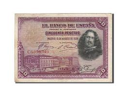 Espagne, 50 Pesetas, 1928, KM:75a, 1928-08-15, TTB - 50 Pesetas