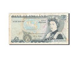 Grande-Bretagne, 5 Pounds, 1971-1982, KM:378f, 1988-1991, TB - 1952-… : Elizabeth II