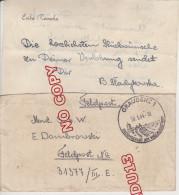 Au Plus Rapide Lettre Et Son Contenu 2 ème Guerre W2 Graudenz 1 Feldpost 20 Mars 1944 Marcophilie Miltaria - 1939-44: World War Two