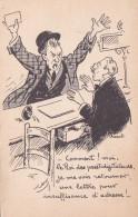 """CP HUMORISTIQUE """" Moi, Roi Des Prestidigitateurs ... Retourner Une LETTRE POUR INSUFFISANCE D'ADRESSE """" + 20f UNESCO CP - Post"""