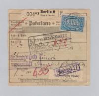 DR 1928-04-20 ESSLINGEN Paketkarte Privataufgabe Nach Zürich - Briefe U. Dokumente