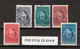 NVPH Nederland Netherlands Pays Bas Holanda 444 - 448 Used Kinderzegels Children Stamps Timbres D´enfants Sellos De Nino - Periode 1891-1948 (Wilhelmina)