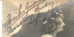 CECILIA GRIERSON AUTOGRAFO SOBRE POSTAL ENVIADA POR LA MISMA EN 1904 A LA ARISTOCRATA SARAH ADELINA CORDOBA REYNAL - Engelen