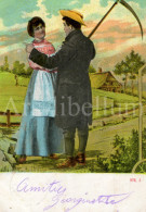 Postkaart / Postcard / CPA / Couple / Romantique / Love / No 978, 2 / 1907 - Paysans