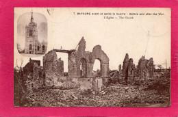 62 PAS-DE-CALAIS BAPAUME Avant Et Après La Guerre, L'Eglise, 1920, (Catala) - Guerra 1914-18