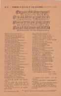 """CP Avec Partition CHANT """" TOMMY S'EN VA-T-EN GUERRE """" Sur L'air De Malbrough - Imp FERON VRAU - Guerre 14 - Musique - Documents"""