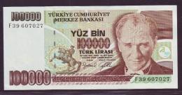 TURQUIE  - 100 0000 LIVRES TURQUES Kemal Atatürk L.1970 (1991) - NEUF / UNC - Turquie