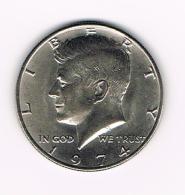 0X  U.S.A.  KENNEDY  1/2 DOLLAR  1974 - Federal Issues
